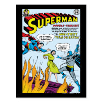 superman, super man, action comics, man of steel, super hero, comic book, dc comic, classic comic book, adventures of superman, lois lane, super girl, superman story, Postcard with custom graphic design