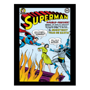 Superman (Double-Feature with Batman) Postcard