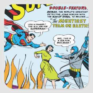 Superman (Double-Feature with Batman) Square Sticker