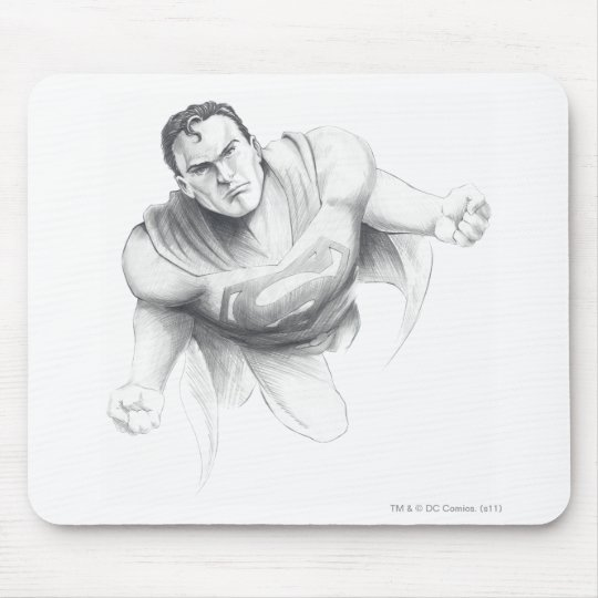 Superman Drawing Mouse Pad