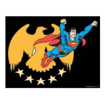 Superman & Eagle Postcard