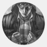 Superman Earth Cover - Black and White Classic Round Sticker