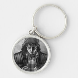 Superman Earth Cover - Black and White Keychain