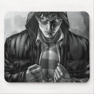 Superman Earth Cover - Black and White Mouse Pad