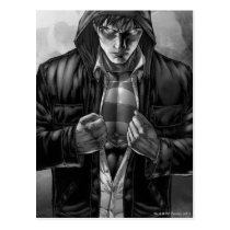 Superman Earth Cover - Black and White Postcard
