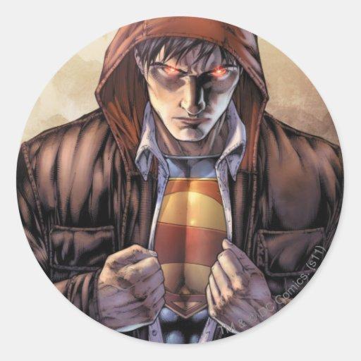 Superman Earth Cover - Color Classic Round Sticker