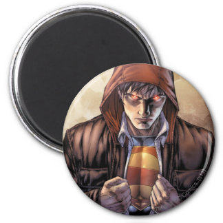 Superman Earth Cover - Color 2 Inch Round Magnet