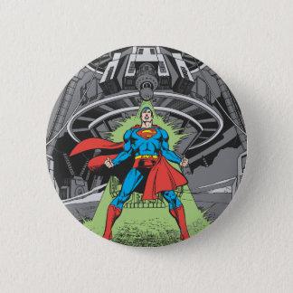 Superman Exposed to Kryptonite Pinback Button