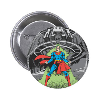 Superman Exposed to Kryptonite Pinback Button