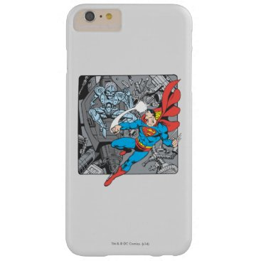 Superman Fights Brainiac Barely There iPhone 6 Plus Case