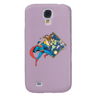 Superman Fights Enemies Galaxy S4 Cover