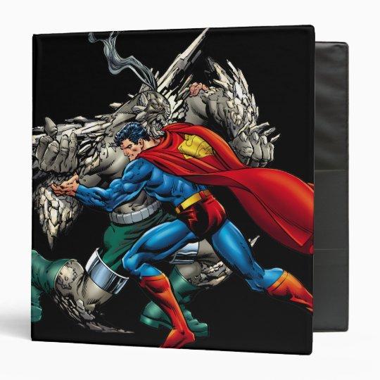 Superman Fights Enemy 3 Ring Binder