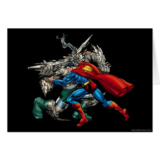 Superman Fights Enemy Card