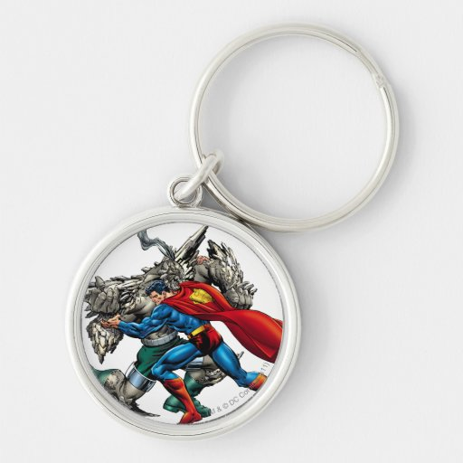 Superman Fights Enemy Key Chain