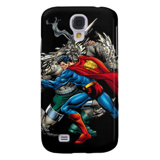 Superman Fights Enemy Samsung Galaxy S4 Cover