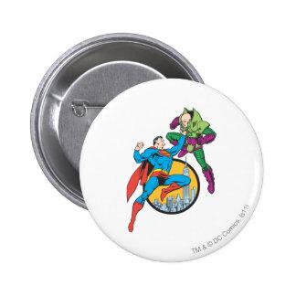 Superman Fights Lex Luthor Button