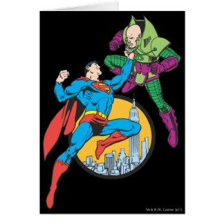 Superman Fights Lex Luthor Card