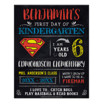 Superman | First or Last Day of School Poster