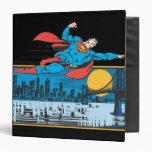 Superman Flies Across Town 3 Ring Binder