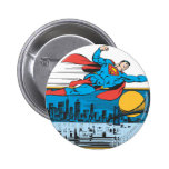 Superman Flies Across Town Pins
