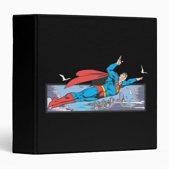 Superman Flies Thru City Binder