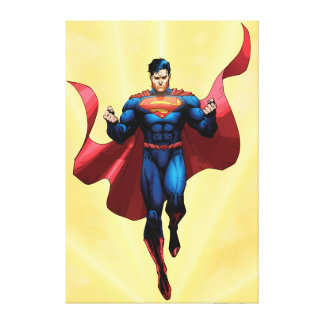 Superman Flying Canvas Print