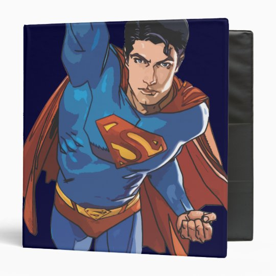 Superman Flying Forward Binder