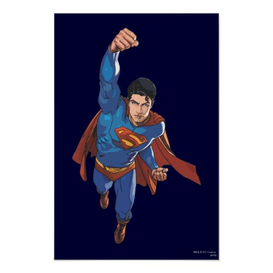 Superman Flying Forward Poster