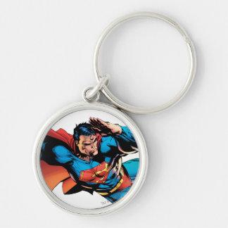 Superman Flying Kick Keychain