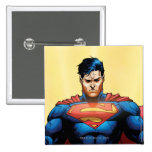 Superman Flying Pinback Button
