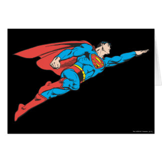 Superman Flying Right Card