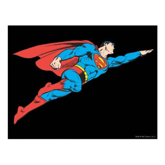 Superman Flying Right Postcard