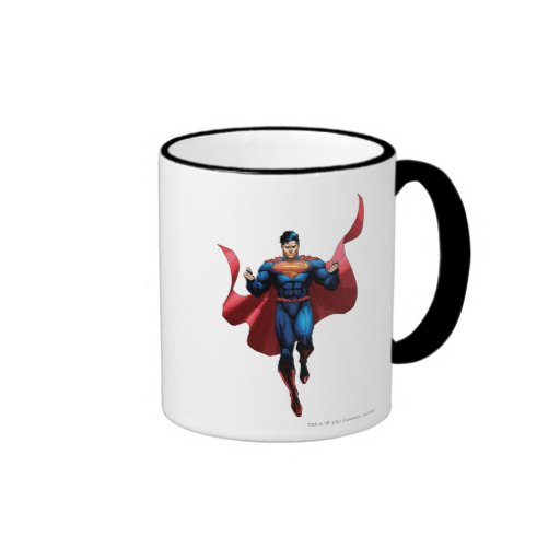 Superman Flying Ringer Coffee Mug