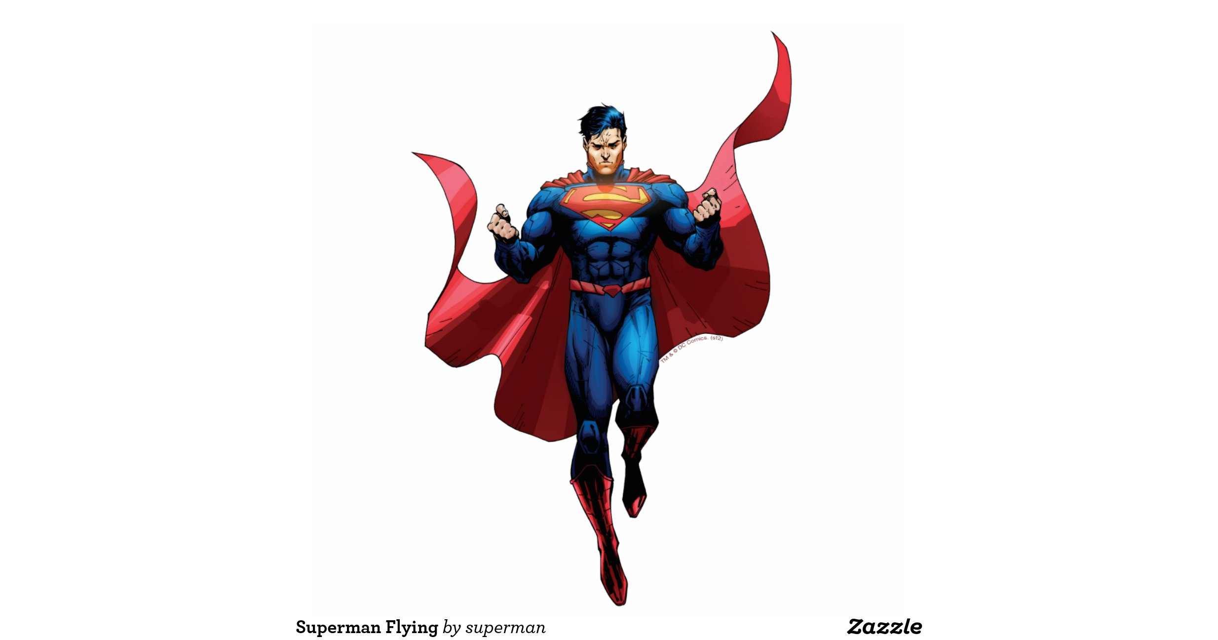Superman Flying Standing Photo Sculpture