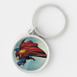 Superman flys with cape keychain
