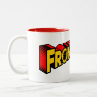 superman front liner thank you Two-Tone coffee mug