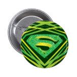 Superman Green Decorative Logo 2 Inch Round Button