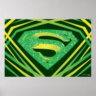 Superman Green Decorative Logo Poster