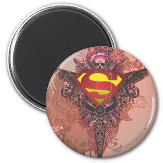 Superman Grunge Design Refrigerator Magnets