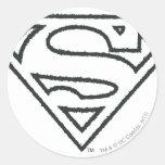 Superman Grunge Logo 2 Stickers