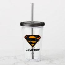 Superman | Halloween Inspired Logo Acrylic Tumbler