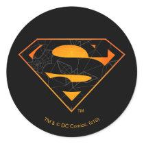 Superman | Halloween Inspired Logo Classic Round Sticker