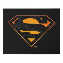 Superman | Halloween Inspired Logo Faux Canvas Print