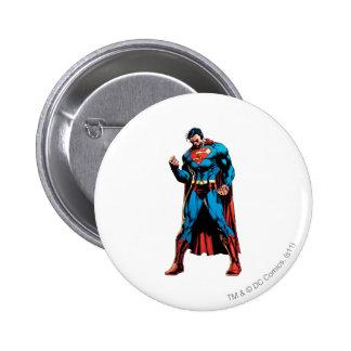 Superman  - Hand in fist Pinback Button