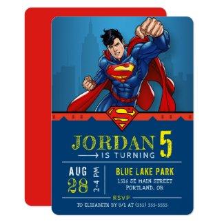 Superman | Happy Birthday Invitation