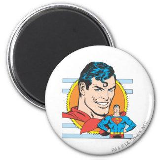 Superman Head Shot Magnets