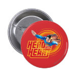 Superman Hero with Heart 2 Inch Round Button