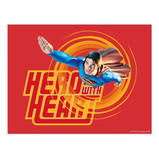 Superman Hero with Heart Postcard