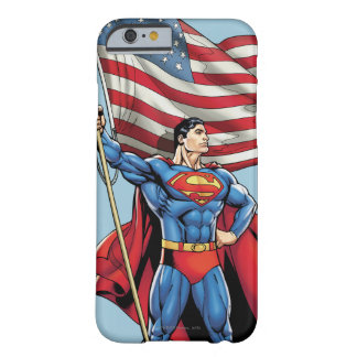 Superman Holding US Flag Barely There iPhone 6 Case
