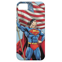 Superman Holding US Flag iPhone SE/5/5s Case